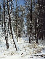 Winter in a forest (Rime), 1877, shishkin