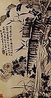 Banana, bamboo, chrysanthemums, orchids, 1707, shitao