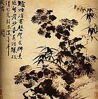 Chrysanthemums and bamboo, 1707, shitao