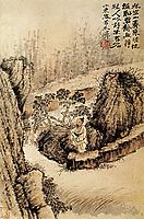 Crouched at the edge of the water, 1690, shitao