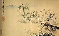 Ducks on the river, 1699, shitao