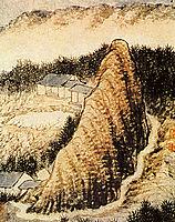 The hamlet at the foot of the rock, 1707, shitao