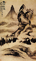 Light of dawn on the monastery, 1669, shitao