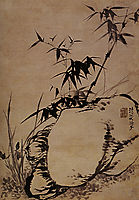 Orchids, bamboo, rock, 1707, shitao