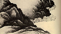 Village on the water, 1689, shitao