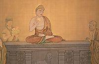 Mahakasyapa smiling at the lotus flower, 1897, shunso