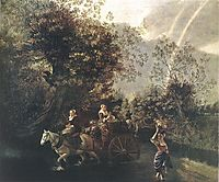 Crossing a Creek, 1669, siberechts