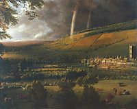 Landscape with Rainbow, Henley on Thames, 1690, siberechts