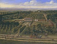 View of a House and its Estate in Belsize, Middlesex, 1696, siberechts