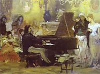 Chopin Performing in the Guest-Hall of Anton Radziville in Berlin in 1829, 1887, siemiradzki