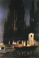 Departure from an Island at Night, c.1890, siemiradzki
