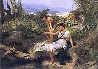 Fishing. A Scene from the Roman Life, 1879, siemiradzki
