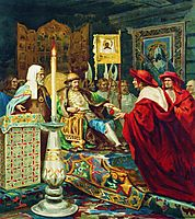 Prince Alexander Nevsky Receiving Papal Legates, c.1870, siemiradzki