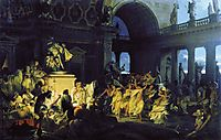 Roman Orgy in the Time of Caesars, 1872, siemiradzki