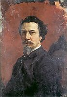 Unfinished Self-portrait, c.1876, siemiradzki