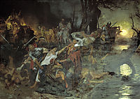 Warriors in the Battle of Silistria, siemiradzki