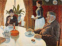 Breakfast, The Dining Room, 1886-87, signac