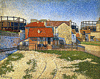 Gas Tanks at Clichy, 1886, signac