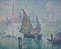 The Green Sail, Venice, 1904, signac