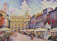 Herbs place,Verona, 1908, signac