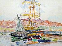 Landscape,Ajaccio, Corse, 1935, signac