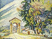 The Pond at Bourg-Saint-Andéol, 1926, signac
