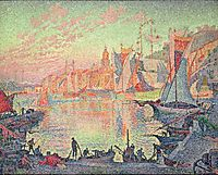 The Port of Saint Tropez, 1901, signac
