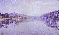 River-s Edge; The Seine at Herblay, 1889, signac