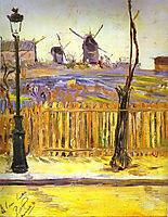 Rue Caulaincourt: Mills on Montmarte, 1884, signac