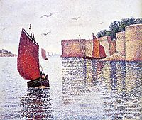 Sardine boat, 1891, signac