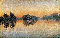 Sunset,Herblay, 1889, signac