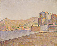 Town beach, Collioure, 1887, signac