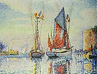 The tuna departing, Concarneau, 1925, signac