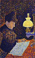 Woman by Lamplight, 1890, signac