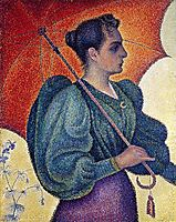 Woman with a parasol, Berthe Signac, 1893, signac