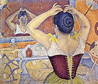 Woman Taking up Her Hair, 1892, signac