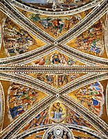 Ceiling Frescoes in the Chapel of San Brizio, 1502, signorelli