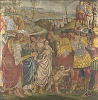 Coriolanus persuaded by his Family to spare Rome, 1509, signorelli