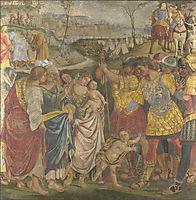 Coriolanus persuaded by his Family to spare Rome, 1509, signorelli