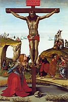 The Crucifixion with St. Mary Magdalen, c.1490, signorelli