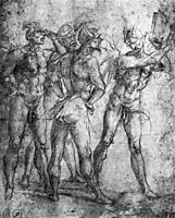 Four Demons with a Book, signorelli