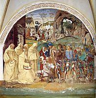 Life of St. Benedict. Benedict Discovers Totila-s Deceit, 1502, signorelli