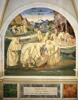 Life of St. Benedict. Benedict Drives the Devil out of a Stone, 1502, signorelli