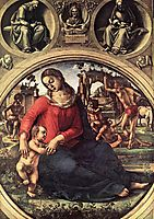 Madonna and Child with Prophets, 1490, signorelli