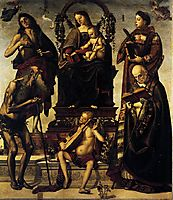 Madonna and Child with Saints, 1484, signorelli