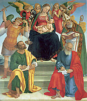 Madonna and Child with Saints and Angels, 1510, signorelli