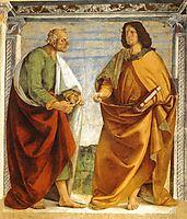 Pair of Apostles in Dispute, 1482, signorelli