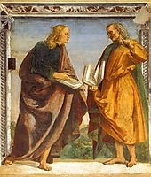Pair of Apostles in Dispute, 1482, signorelli