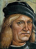 Self-portrait (detail from The Preaching and Acts of the Antichrist), 1500, signorelli