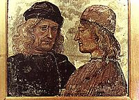Self-portrait with Vitelozzo Vitelli, 1503, signorelli